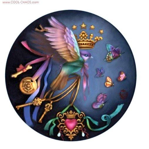 Royal Steampunk Bird Sticker