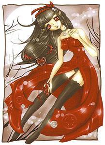 Art Sticker by Krisgoat #1 Dark Red Valentine