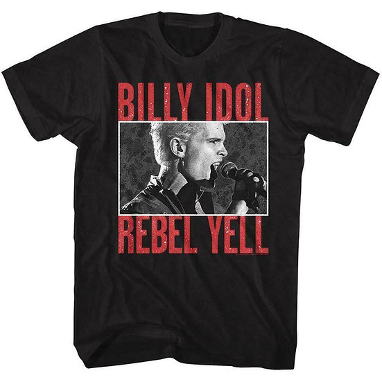 Billy Idol T-Shirt / Billy Idol Rebel Yell 80's Throwback Rock Tee