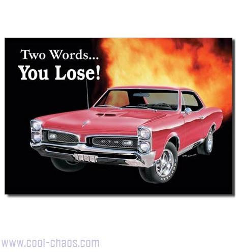 GTO Muscle Car Sign