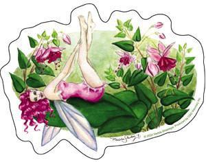 Magenta Fuchsia Flowers Fairy Sticker by #1
