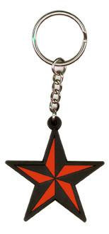 Old Skool Tattoo Nautical Star Keychain
