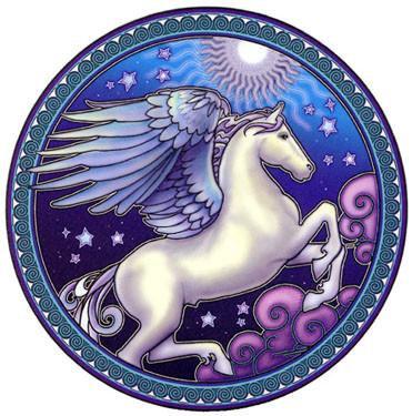 Night Sky Pegasus Sticker