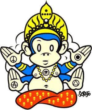 Kustom Kulture Monkey Sticker by Scrojo