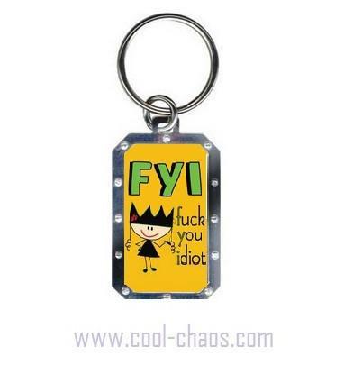 FU Idiot Keychain