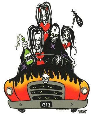 Ghoulmobile Vampire Sticker