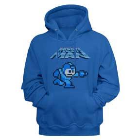 Mega Man Hoodie / Pixel Mega Man Video Game Hooded Sweatshirt