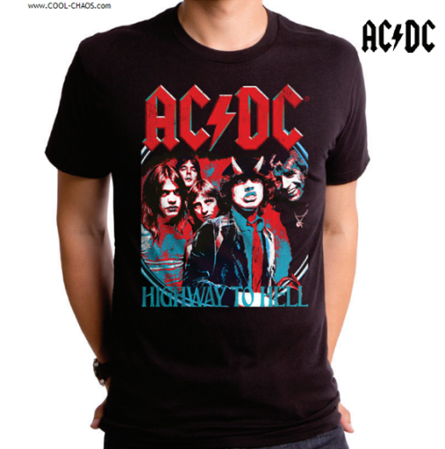 AC/DC T-Shirt / AC/DC Cool Highway to Hell Rock Tee