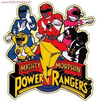 Mighty Morphin Power Rangers Car Magnet