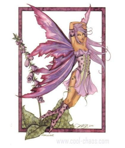 Foxglove Fairy Postcard
