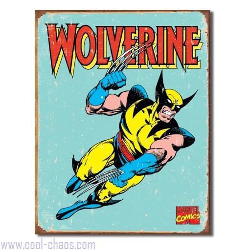 Retro-style Wolverine Tin Sign