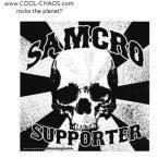 Samcro Supporter Sons of Anarchy Skull Sticker