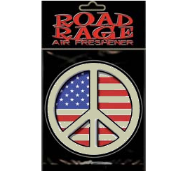 USA Flag Peace Sign Air Freshener