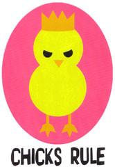 Cool Chick Chicks Rule Sticker