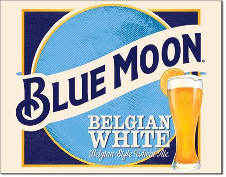 Blue Moon White Belgian Ale Tin Sign