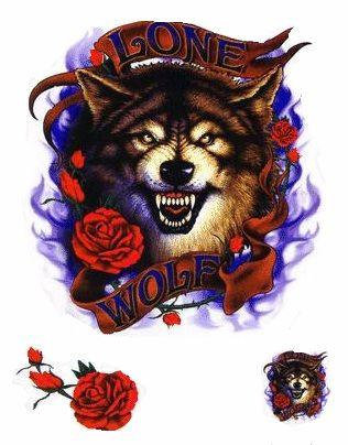 Roses Lone Wolf Stickers