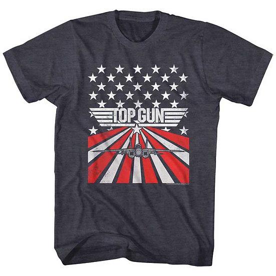TOP GUN T-Shirt / 80's Throwback Star & Stripes 'Top Gun' Movie Tee