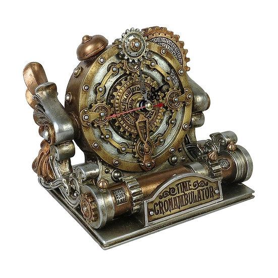 Time Machine-like Steampunk Desk Clock