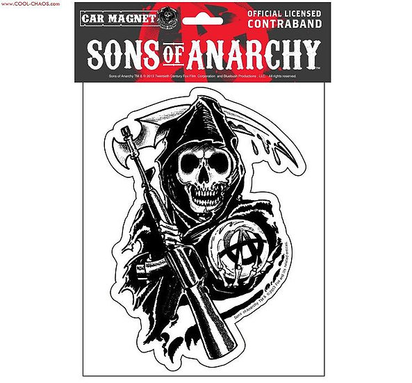 Sons of Anarchy Reaper Car Magnet