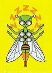 Be Buzzed Sticker art by Mikio