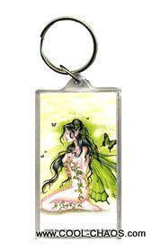 Ivy Green Fairy Keychain