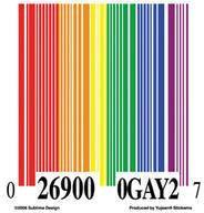 Bar Code Rainbow Sticker