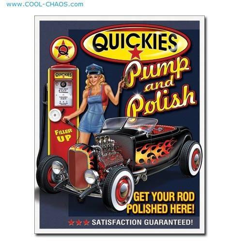 Quickies Pump + Polish Pin-up Girl Sexy Garage Sign