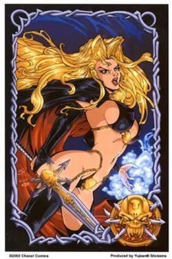 Lady Death Warrior Sticker