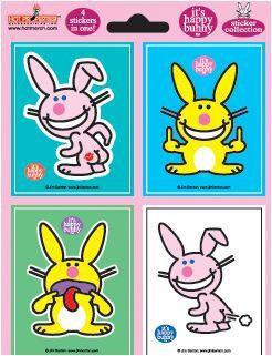 Happy Bunny Stickers Set