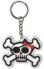 Girly Pirate Skull Keychain