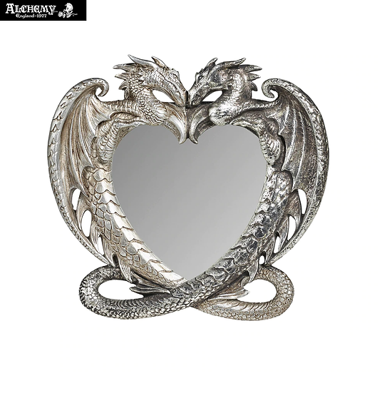 Dragon Heart Desk Mirror by Alchemy Gothic 1977