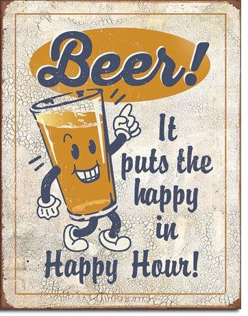 Happy Hour Beer Tin Sign