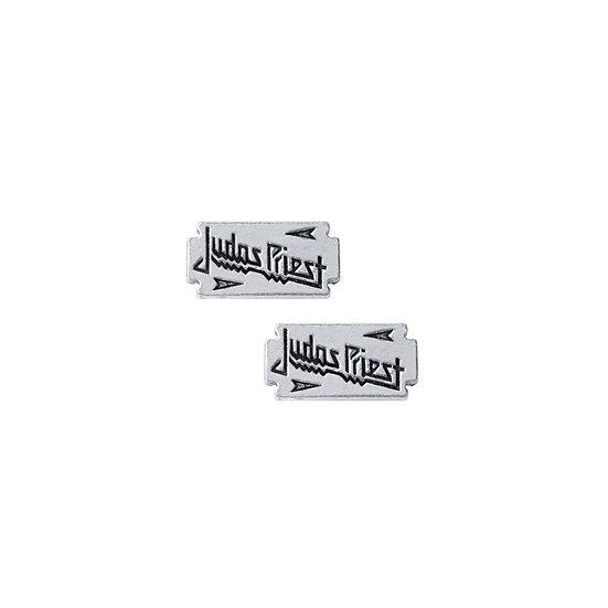 Judas Priest Earrings / Pewter Rock Stud Earrings