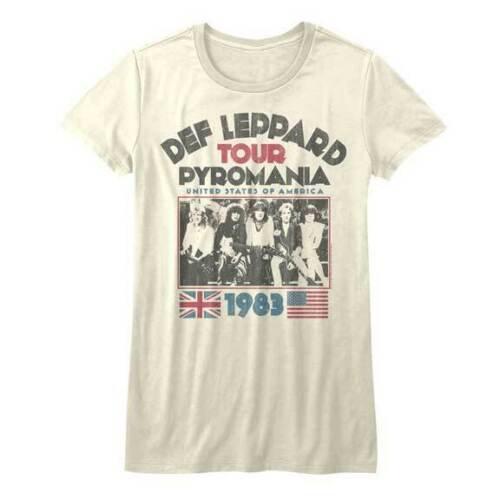 Def Leppard T-Shirt / 1983 USA PYROMANIA TOUR 80's Retro Reissue Rock Junior Tee