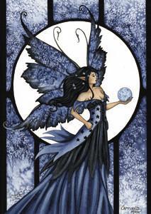 Amy Brown Fairy Art Postcard #2 Captured Moon Fairy