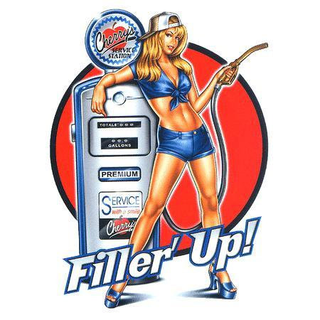 Sexy Blonde Mechanics Pin-up Girl Sticker