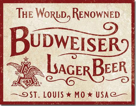 Budweiser Beer St. Louis Tin Sign