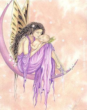 Blossom Moon Fairy Mother and Child Sticker