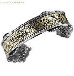 Pewter / Brass Steampunk Bracelet by Alchemy Gothic 1977