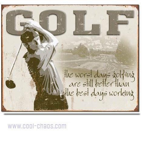 Best Days Spent Golfing Sign