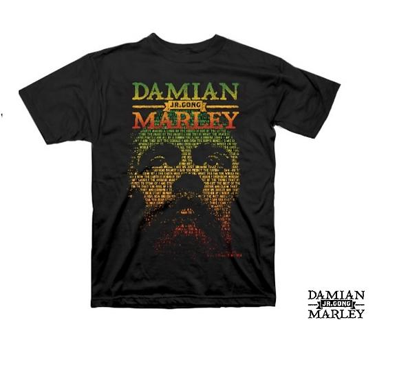 DAMIAN MARLEY T-SHIRT / JR GONG DAMIAN MARLEY RASTA TEE