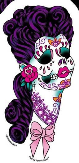 Lace Grace Candy Sugar Skull Sticker