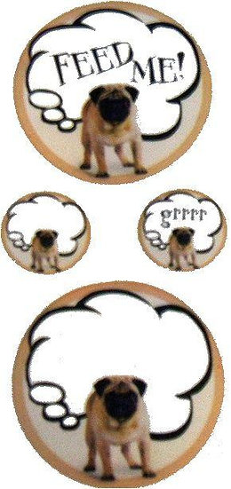 Adorable and Cute Pug Stickers #1