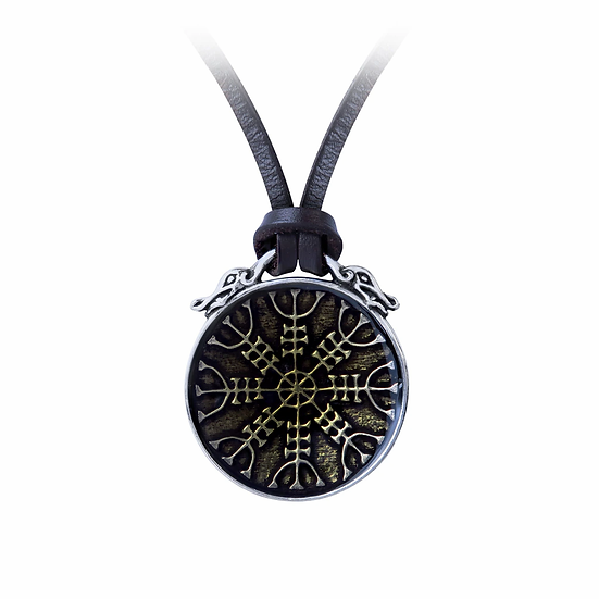 Pewter Viking Rune Throng Necklace