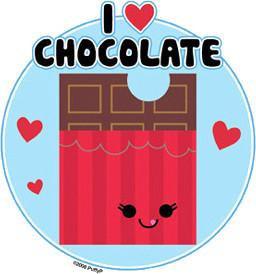 I love Chocolate Sticker