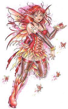 Fire Element Fairy Sticker