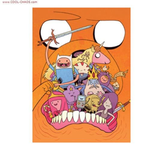 Adventure Time Jake Mouth Magnet
