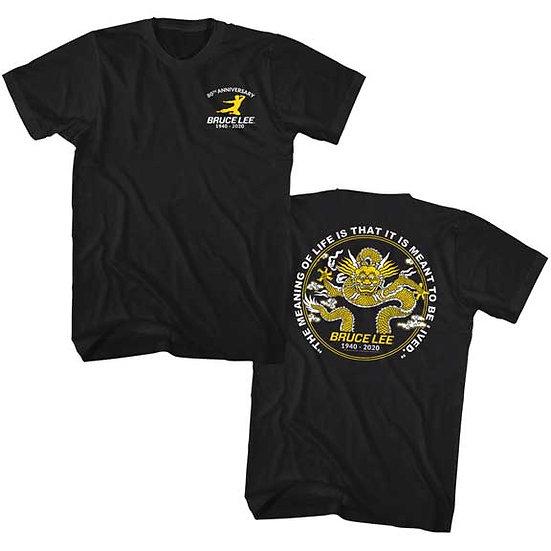 BRUCE LEE T-Shirt / 80TH ANNIVERSARY BRUCE LEE DRAGON TEE w/backprint
