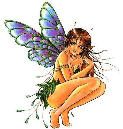 Impish Fairy Sticker- Large