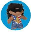 80's Rocker Mullet Troll Button